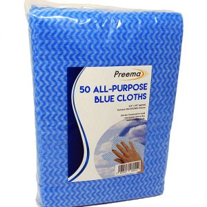 "All Purpose Blue Cloths 20""x15"" 40 x 50"