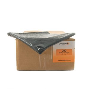 Heavy Duty Black Refuse Sacks 200 x 1