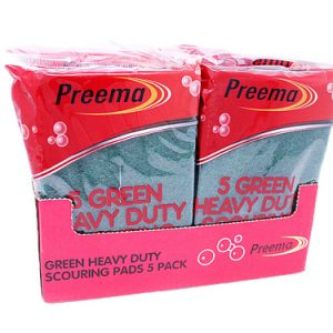 Heavy Duty Green Scouring Pads 10 x 5
