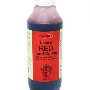 Natural Red Food Colouring 6 x 500ml