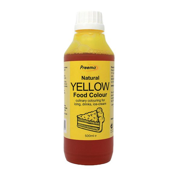 Natural Yellow Food Colouring Liquid 6x 500ml