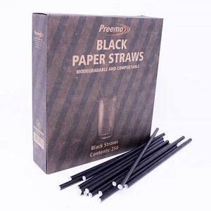 Flexible Drinking Straws Black 40 x 250