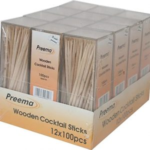 Wooden Cocktail Sticks 48 x 12